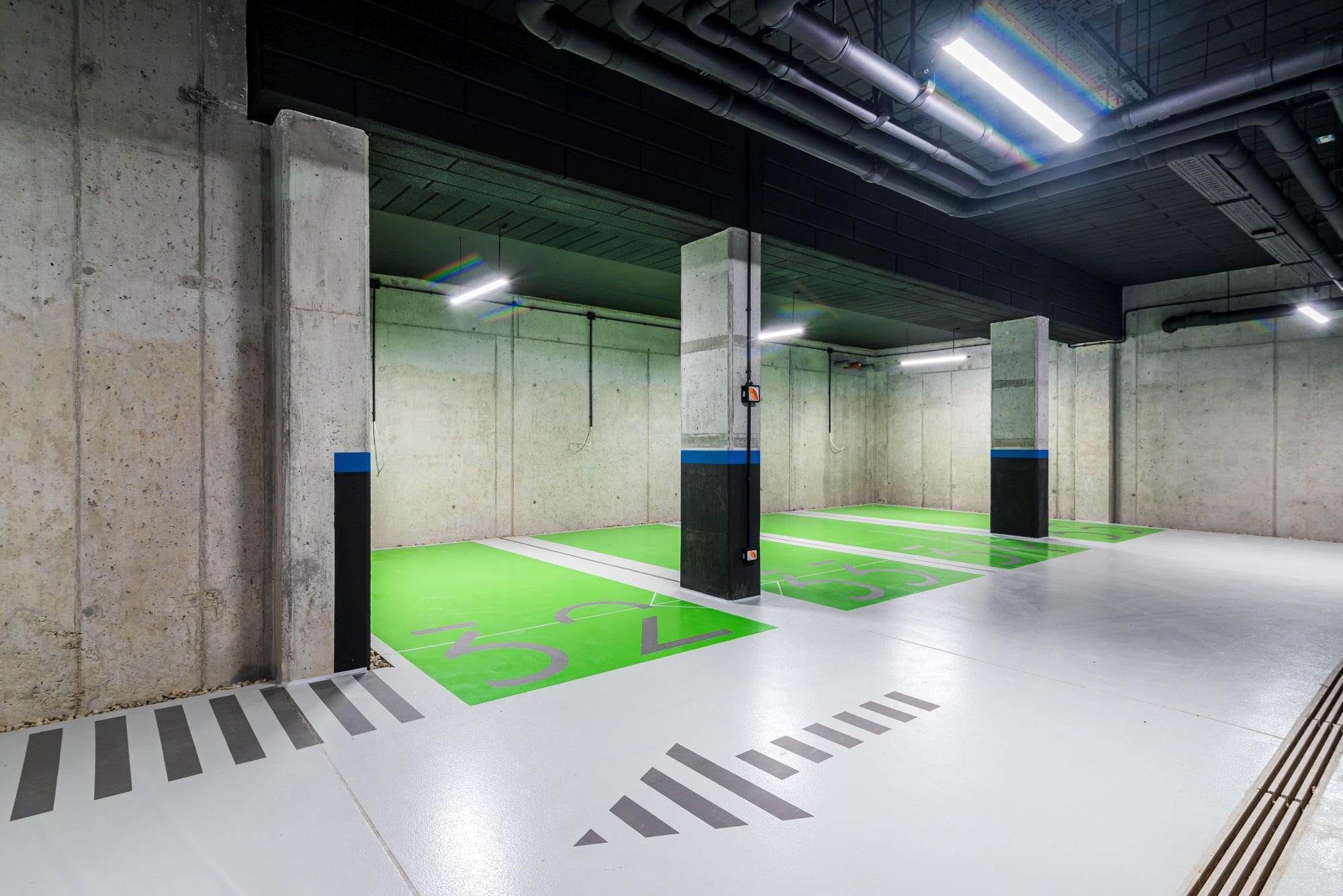 Projekt hala parkingowa Borowego Kraków 2