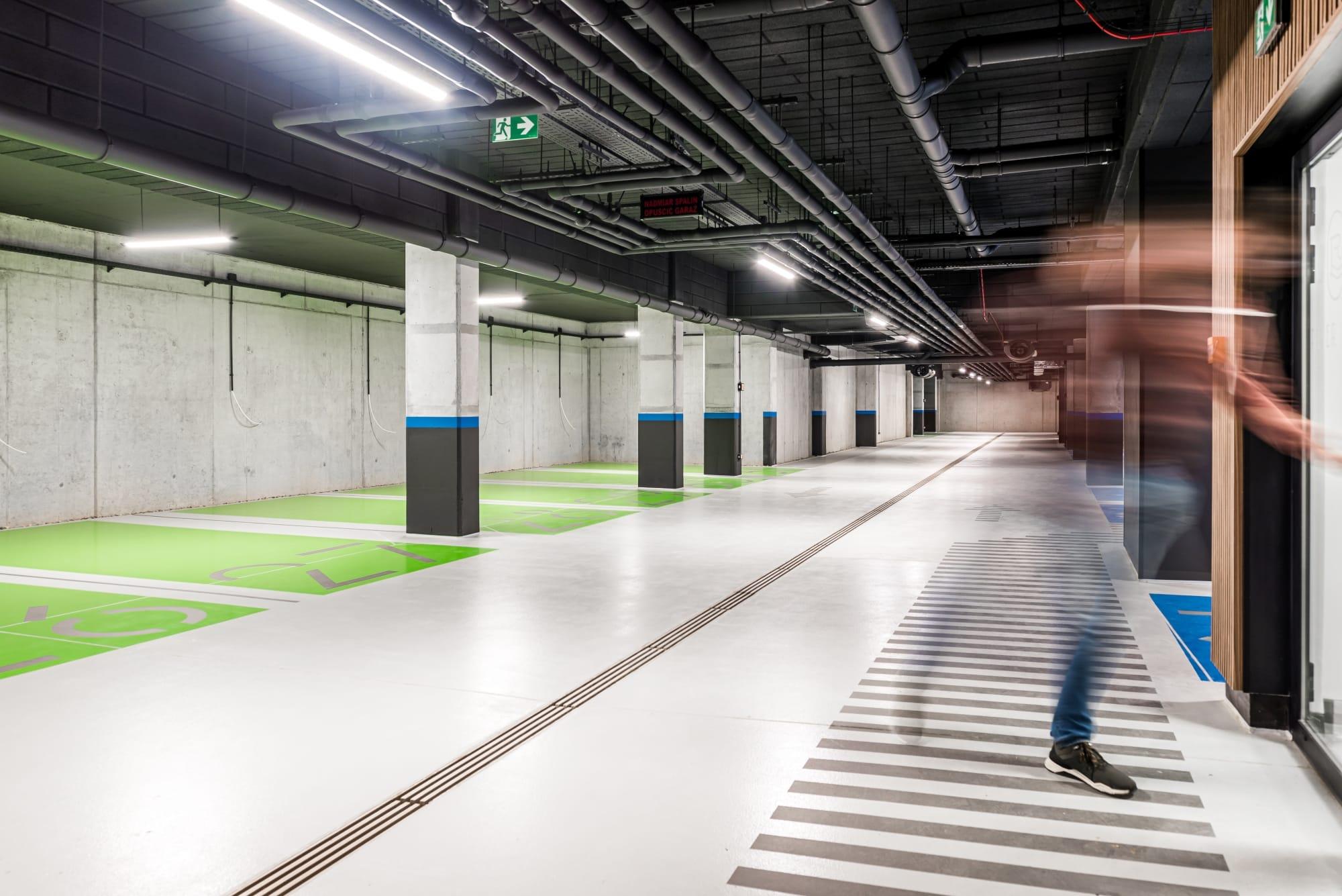Projekt hala parkingowa Borowego Kraków 1